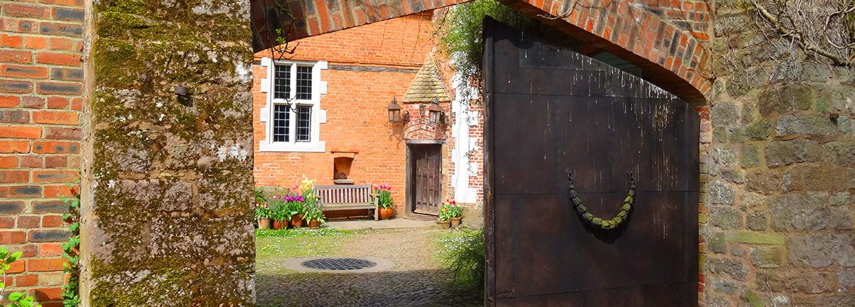 The Main Gate at Hellens Manor, Much Marcle, Herefordshire