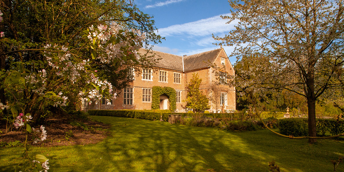 Hellens Manor in Much Marcle, Herefordshire from the East in the morning