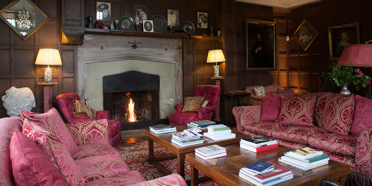 The Music Room at Hellens Manor, Much Marcle, Herefordshire