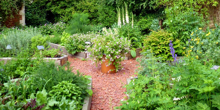 The Physic Garden at Hellens Manor, Much Marcle, Herefordshire