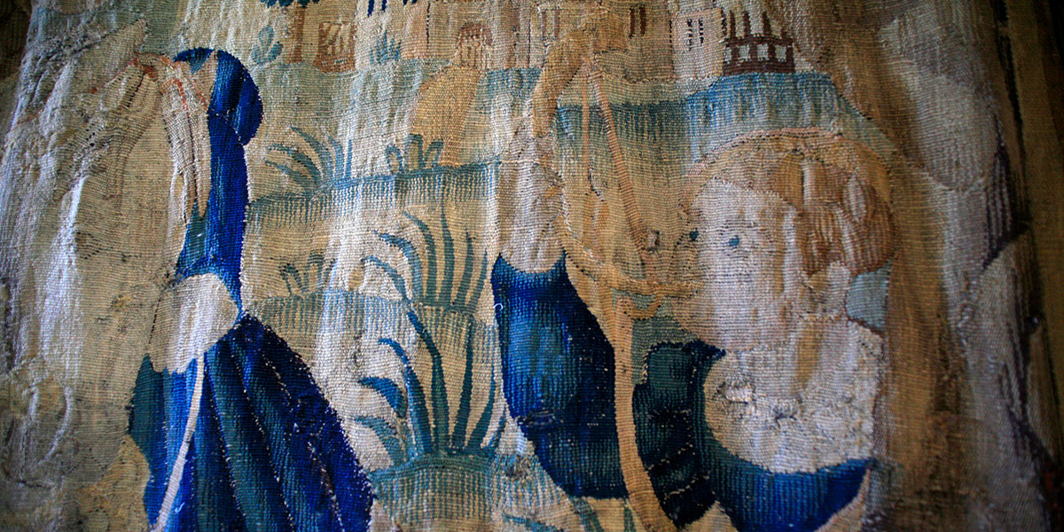 Munthe Palace Tapestry at Hellens Manor, Much Marcle, Herefordshire
